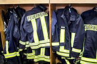 Firefighting equipment, firefighting clothing are ready for immediate use