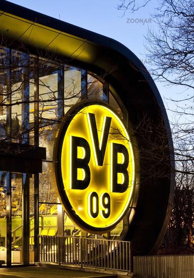 Borussia Dortmund fan shop, Dortmund, Ruhr area, North Rhine-Westphalia, Germany, Europe