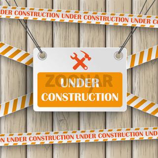Under Construction Wood