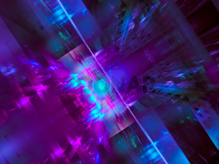 Abstract fractal blur with light effects - digitally generated 3d illustration