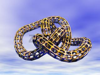 goldener Knoten im Himmel