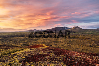 Grundarfjordur mountains at sunrise, Iceland
