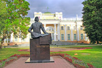 Monument to Nikolay Rumyantsev in city park of Gomel. Monument to Russian statesman Count Nikolai Pe