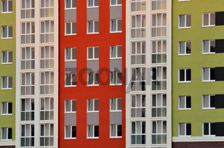 Fragment of a new multi-storey residential public building
