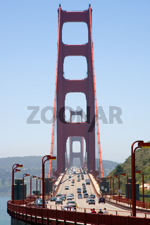 View Of The Famous Golden Gate Bridge In San Francisco, California