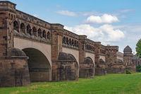 Minden Aqueduct, Wasserstrassenkreuz Minden, Minden, North Rhine-Westphalia, Germany, Europe