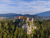 Aerial view of the Bled castle