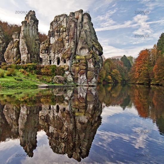 Externsteine, sandstone rock formations, Germany