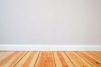 wooden floor and painted walls - renovation concept background