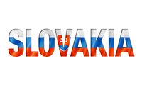 slovakian flag text font