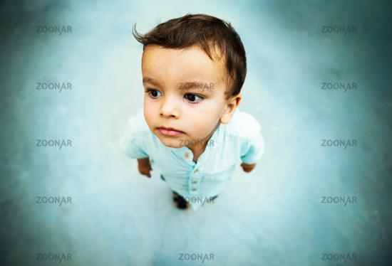 Little boy high angle shot