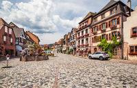 Alsacian village Bergheim near Colmar, France.