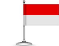 Indonesian flag on white background. Vector illustration