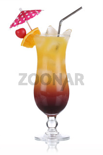 Tequila Sunrise Cocktail isoliert