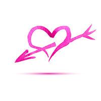 Heart with arrow.