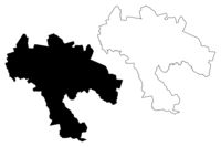 Naukseni Municipality (Republic of Latvia, Administrative divisions of Latvia, Municipalities and their territorial units) map vector illustration, scribble sketch Naukseni map