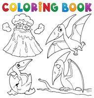 Coloring book pterodactyls theme set 1