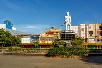 Statue of a indian warrior in Manado, Indonesia