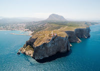 Aerial view coastal town of Javea. Spain
