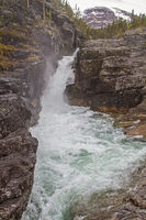 waterfall in valley Brostdalen