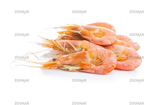 Boiled tiger prawns.  Tasty shrimps.