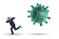 Businessman in fear of recession due to coronavirus