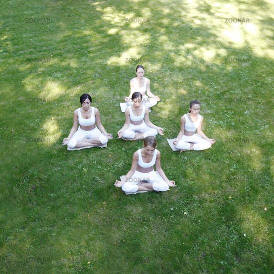 Yoga training at park