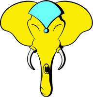 Head of elephant icon, icon cartoon