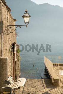 View on Lamp and lake Como