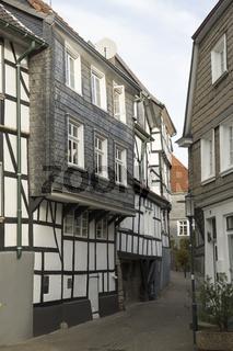Fachwerkhäuser an der Kirchstrasse in Hattingen, NRW, Deutschland