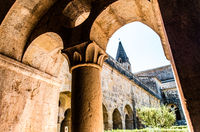 Cloister of the Thonoret abbey in the Var in France
