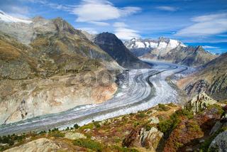 Großer Aletschgletscher, Wallis, Schweiz
