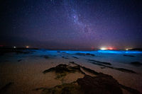 Bioluninescence and stars in Australia