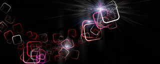 Futuristic square panorama background design illustration with light