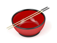 Empty bowl and chopsticks