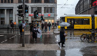 Rainy weather in Berlin