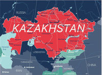 Kazakhstan country detailed editable map