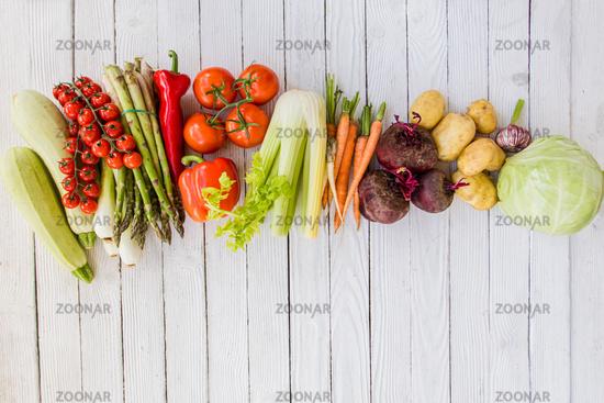 Cooking ripe vegetables grown in granny's garden