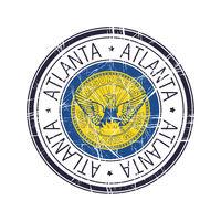 City of Atlanta, Georgia vector stamp