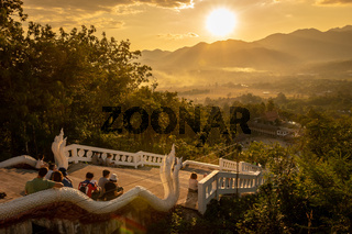Sunset View from White Buddha in Pai, Thailand