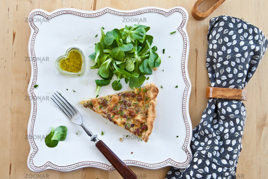 Quiche Lorraine and lettuce