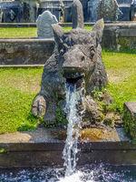 Sculpture at Tirta Gangga Temple in Bali, Indonesia