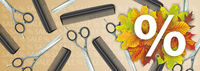 Comb Scissors White Autumn Offer