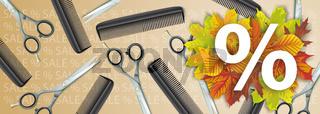 Comb Scissors White Autumn Offer