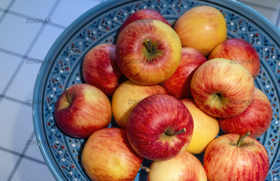 Organic apples in a fruit bowl
