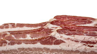 background of uncured smoked sliced bacon