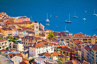 Villefranche sur Mer. Idyllic town on French riviera coastline view