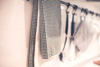 Kitchen towel placed on hanger