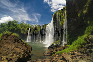 Scenic view of Iguazu waterfalls in Argentina