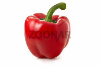 Sweet pepper isolated against white background